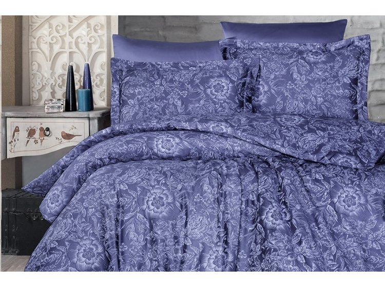 Постельное белье First Choice. Satin Advina Indigo