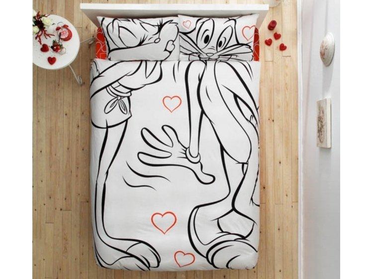 Подростковое постельное белье TAC. Bugs Bunny and Lola Amour