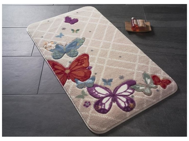 Коврик для ванной Confetti. Butterfly Plaid Red