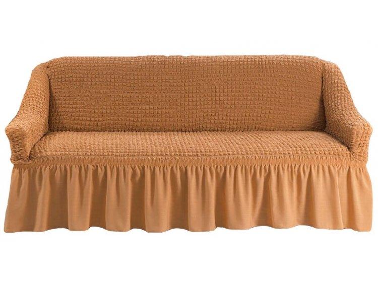 Чехол на диван Arya. Burumcuk темно-горчичного цвета