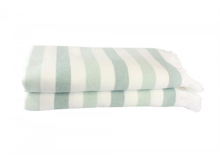 Пляжное полотенце Hobby. STRIPE Peshtemal, мятное