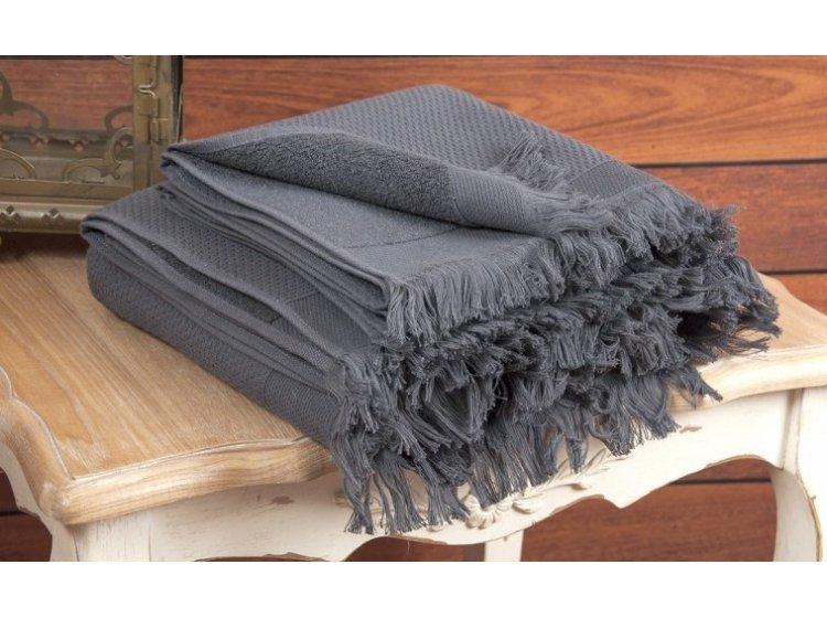 Махровое полотенце Buldans. Siena Antracite