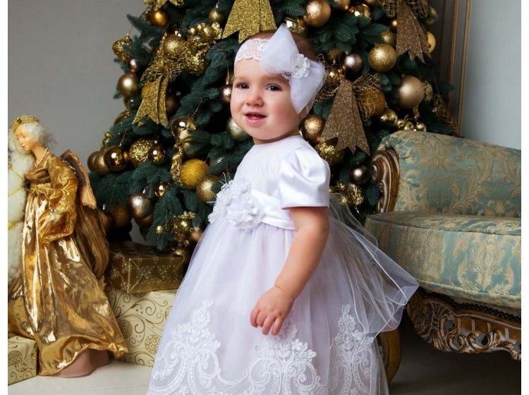 Платье Mimino baby. Ника белое