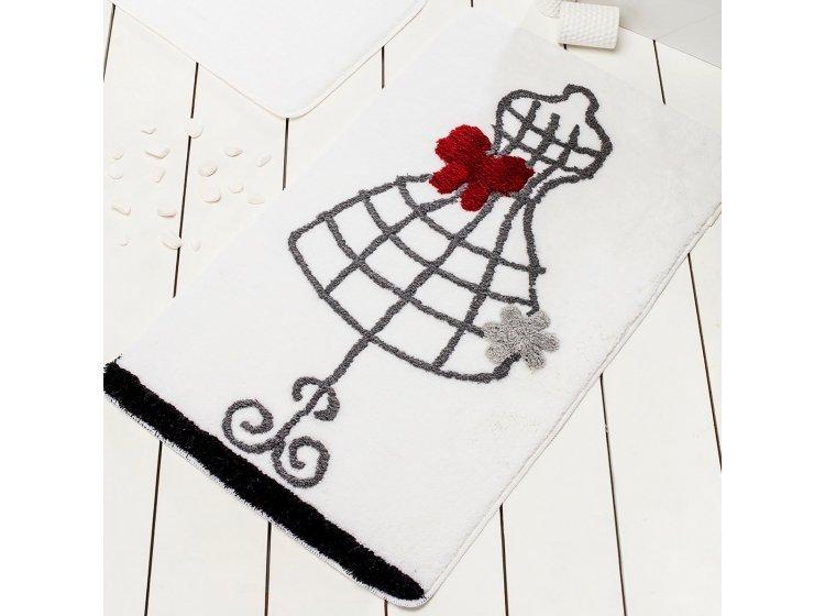 Коврик для ванной Chilai Home. ELBISE WHITE большой