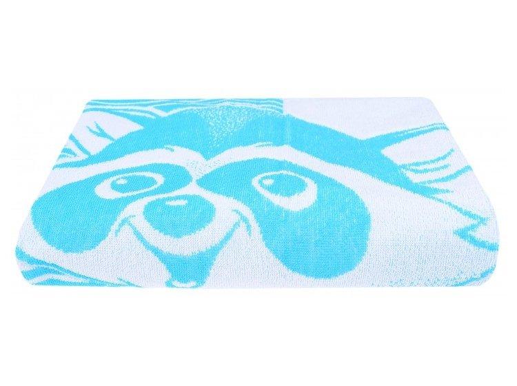 Махровое полотенце Речицкий текстиль. Енот голубое