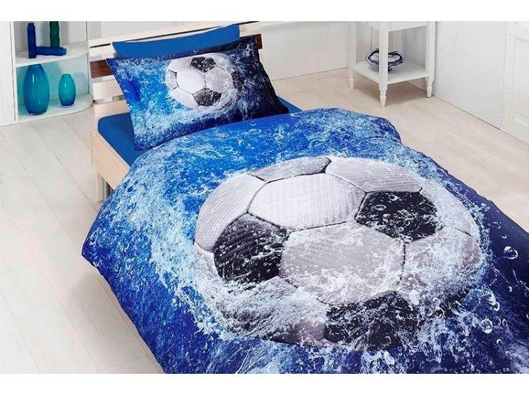 Подростковое постельное белье First Choice. Satin 3D Football