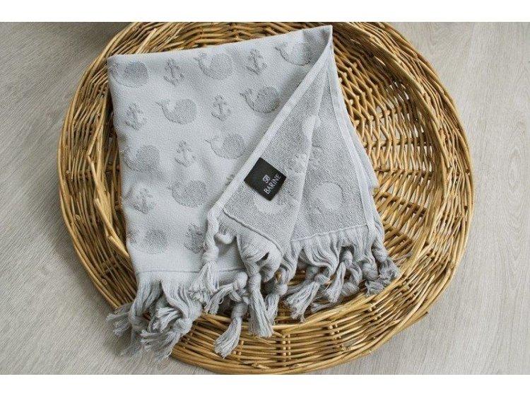 Махровое полотенце Barine. Whale grey