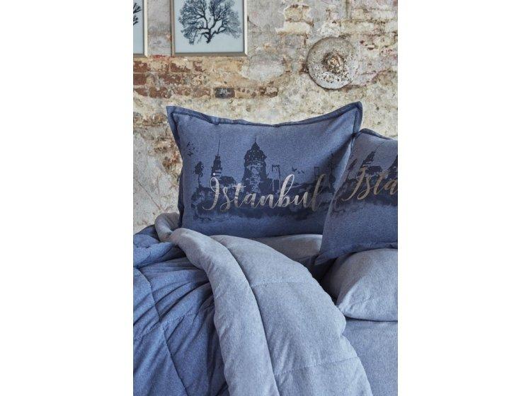 Постельное белье с одеялом Karaca Home. Istanbul indigo 2019-2