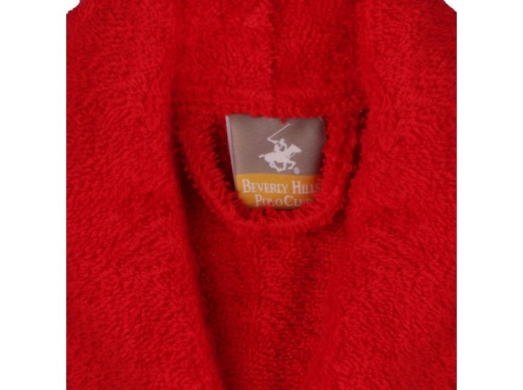 Халат махровый Beverli Hills Polo Club. 355BHP1711 red