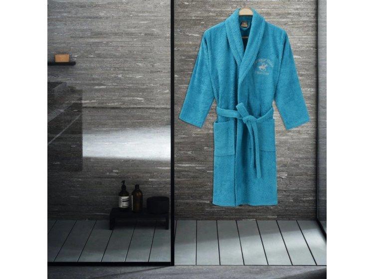 Халат махровый Beverli Hills Polo Club. 355BHP1712 turquoise
