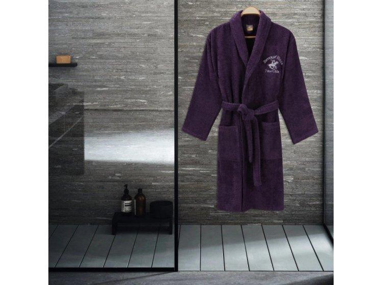 Халат махровый Beverli Hills Polo Club. 355BHP1710 purple