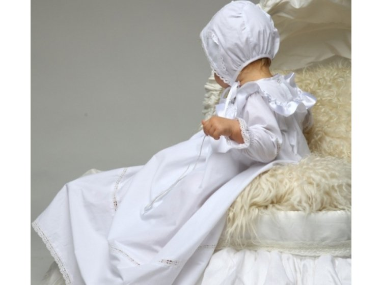 Рубашка крестильная  Mimino baby. Ангелочек серебро