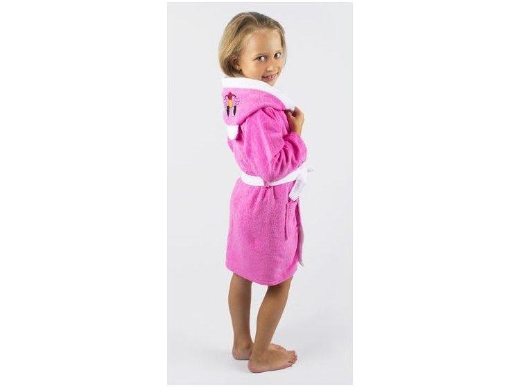 Халат детский махровый Lotus. Зайка розового цвета