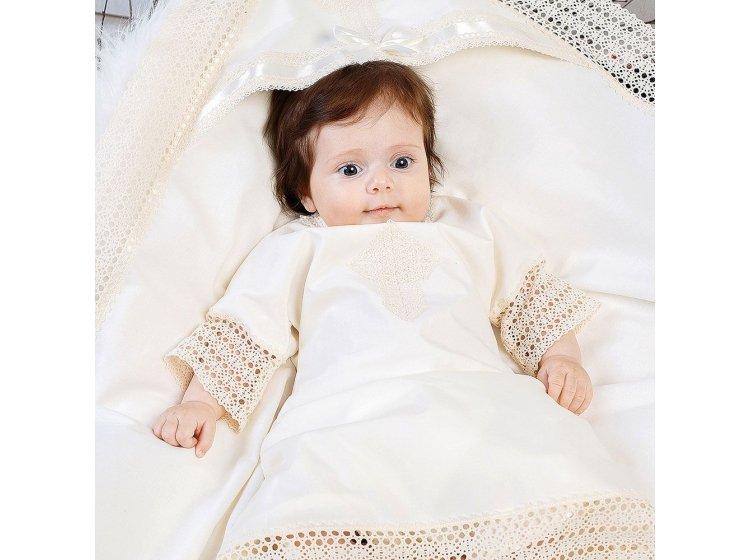 Рубашка крестильная Mimino baby. Традиция молочная