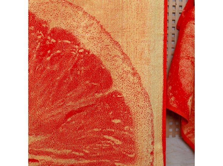 Махровое полотенце Речицкий текстиль. ЦИТРУС красное