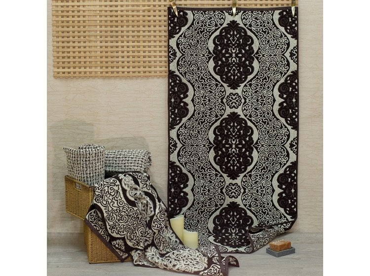 Махровое полотенце Речицкий текстиль. ESKADA коричневое