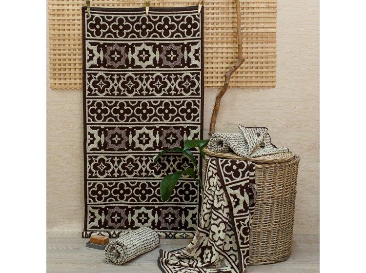 Махровое полотенце Речицкий текстиль.  KLEO коричневое