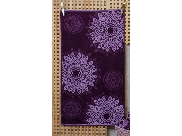 Махровое полотенце Речицкий текстиль. МАРКИЗ фиолетовое