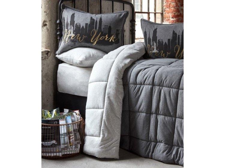 Постельное белье с одеялом Karaca Home. New York gri 2019-2