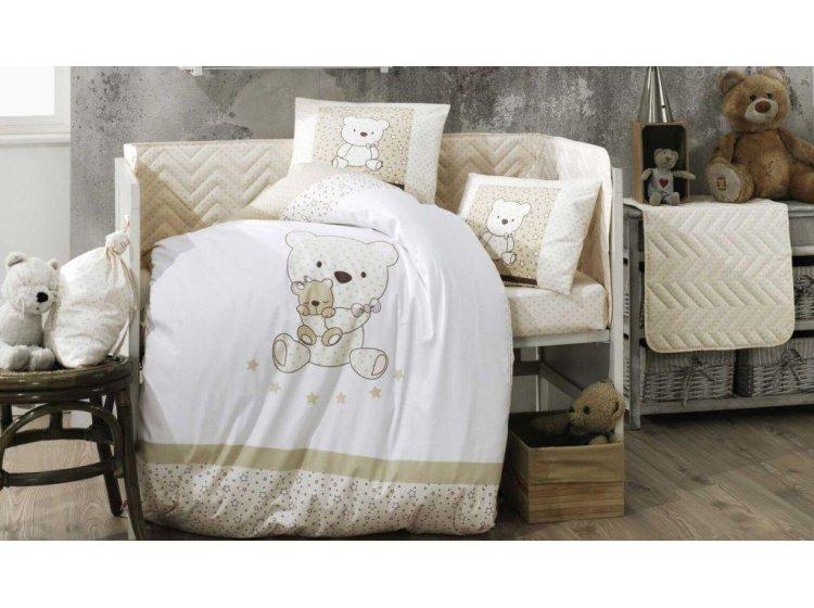 Постельное белье в детскую кроватку HOBBY. Bonita бежевое