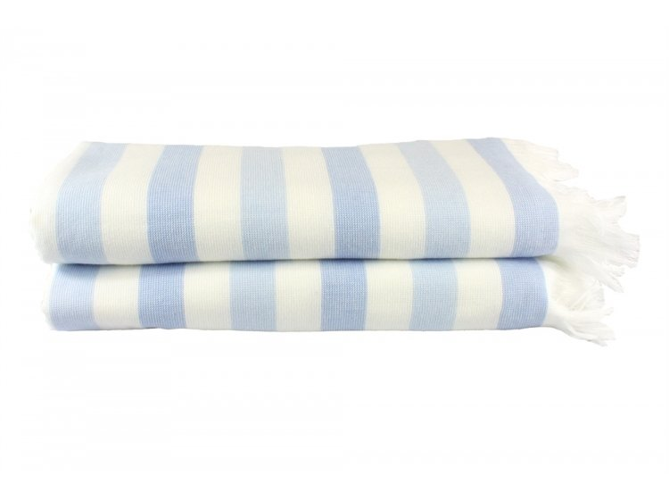 Пляжное полотенце Hobby. STRIPE Peshtemal, голубое