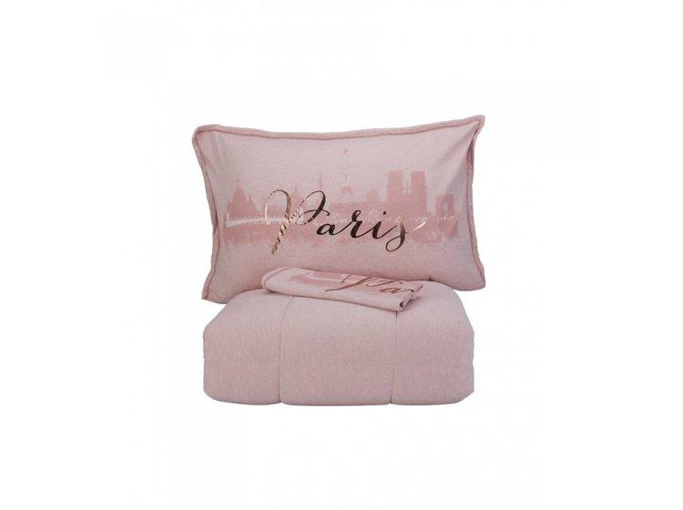 Постелное белье с одеялом Karaca Home. Paris pudra 2019