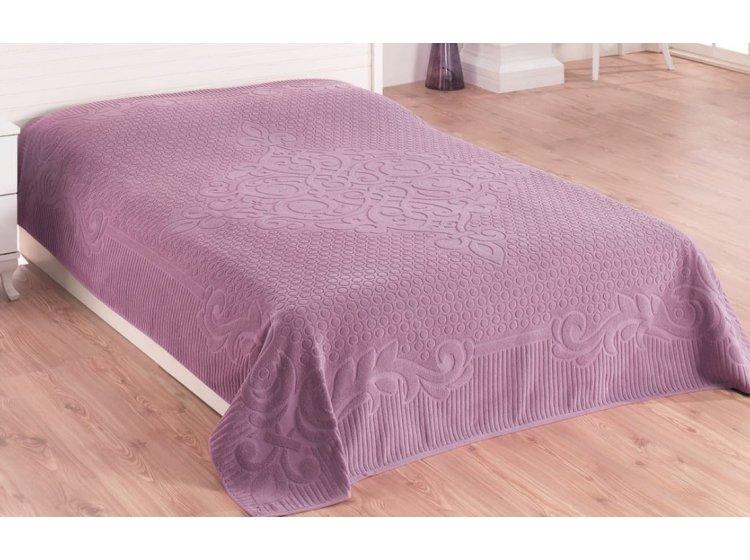 Махровая простынь Gulcan. Venz purple