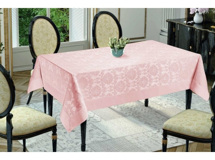 Скатерть Jackline. Neocotton Damascus Pink 9940-9