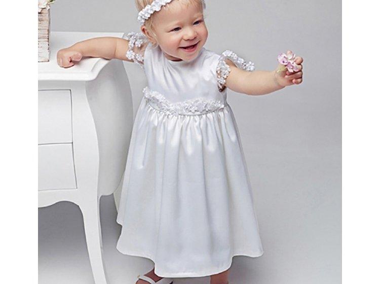 Платье  Mimino baby. Ева с панталонами белое