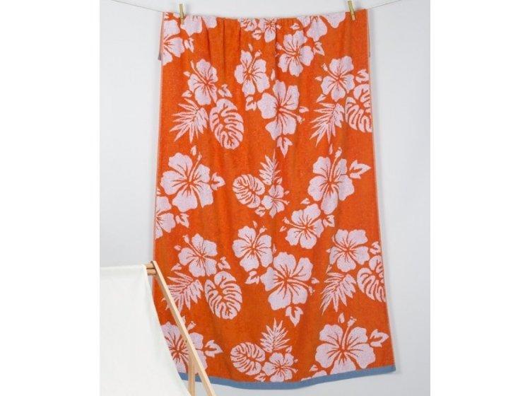 Пляжное полотенце Barine. Pestemal Aloha Oranj
