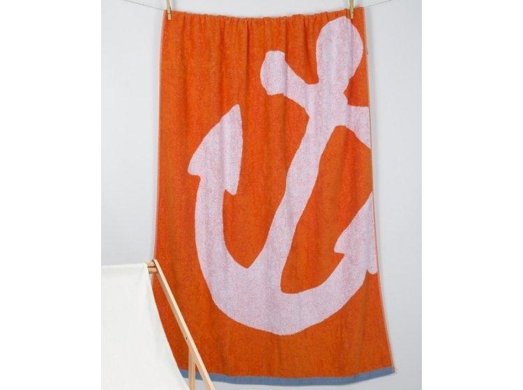 Пляжное полотенце Barine. Pestemal Anchor Oranj