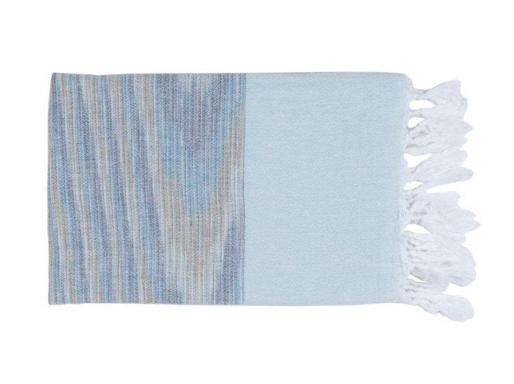 Пляжное полотенце Barine. Pestemal Marble Blue-Blue