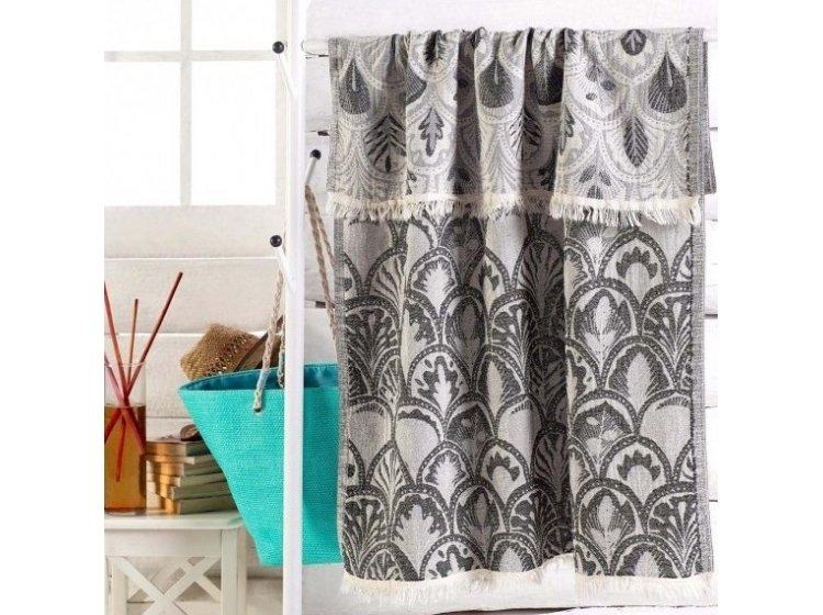 Пляжное полотенце Eponj Home. Jakarli Yaprak siyah