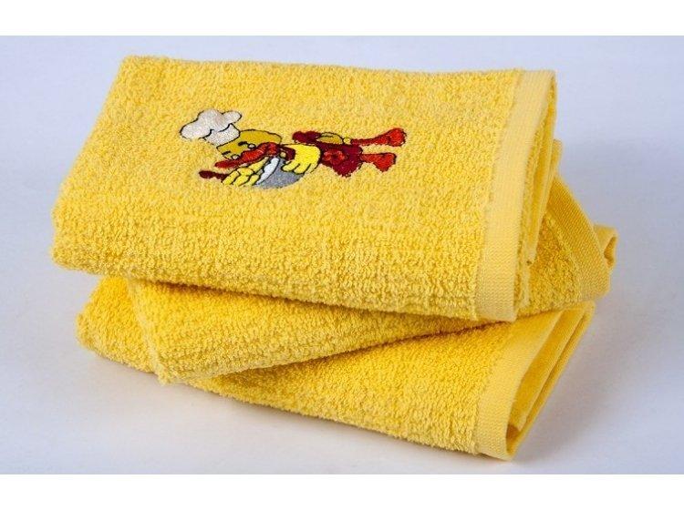 Полотенце кухонное Lotus. Duck желтое