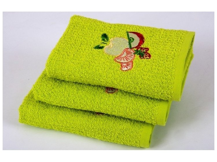 Полотенце кухонное Lotus. Fruit зеленое