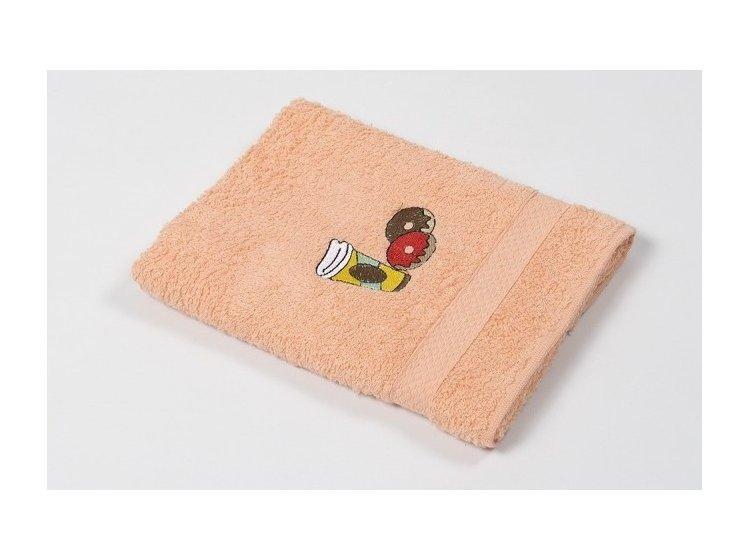 Полотенце кухонное Lotus. Sun Donuts оранжевое