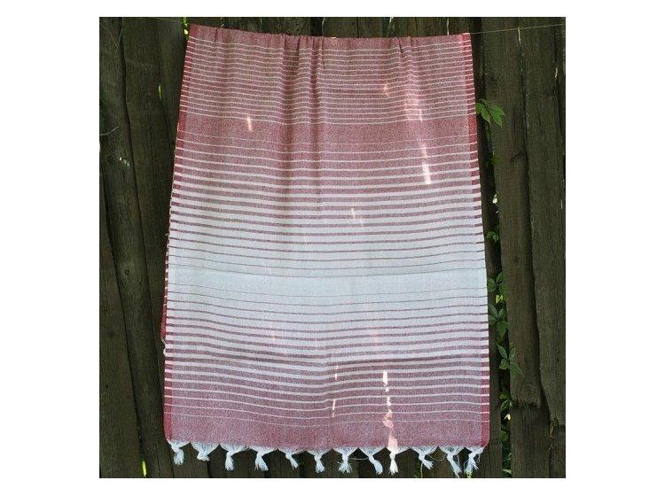 Пляжное полотенце Lotus. Pestemal Red 02 Micro stripe