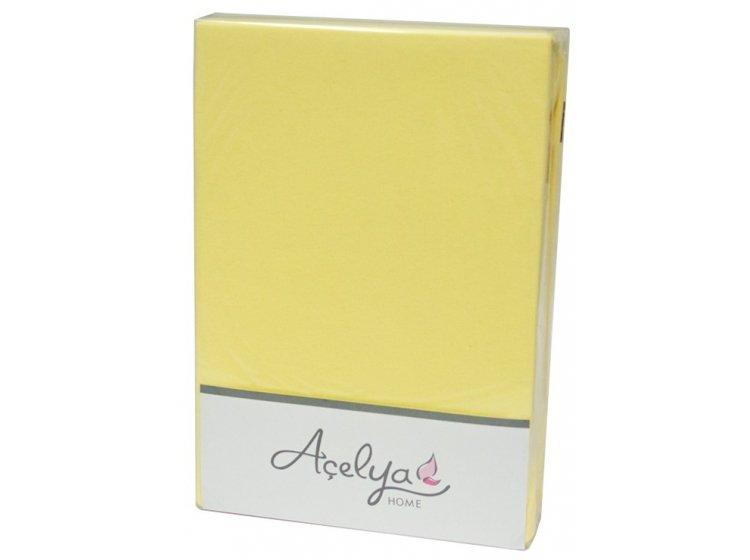 Простынь трикотажная на резинке с наволочками Acelya. Yellow