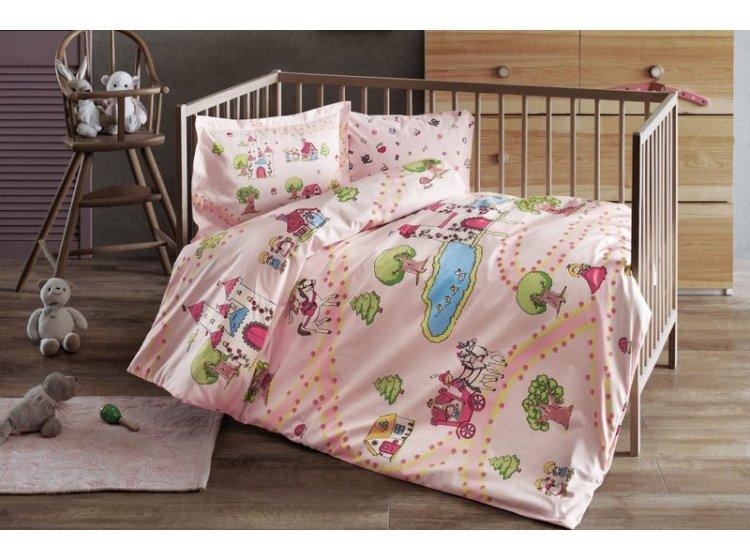 Постельное белье в детскую кроватку TAC. Princess pembe