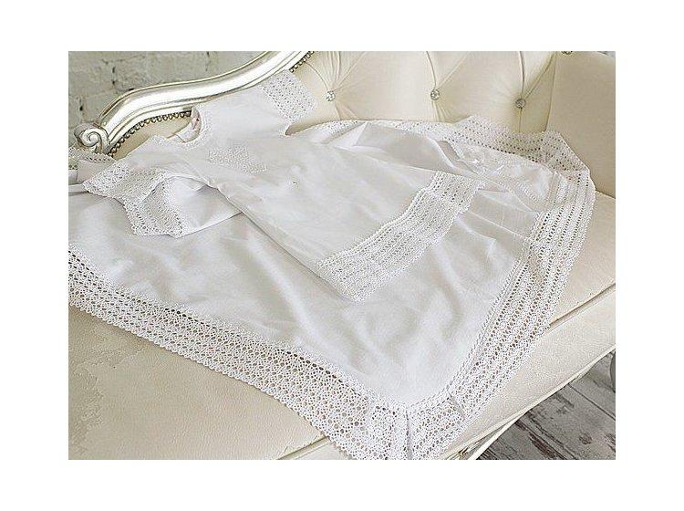 Рубашка крестильная Mimino baby. Ажурная белаяя
