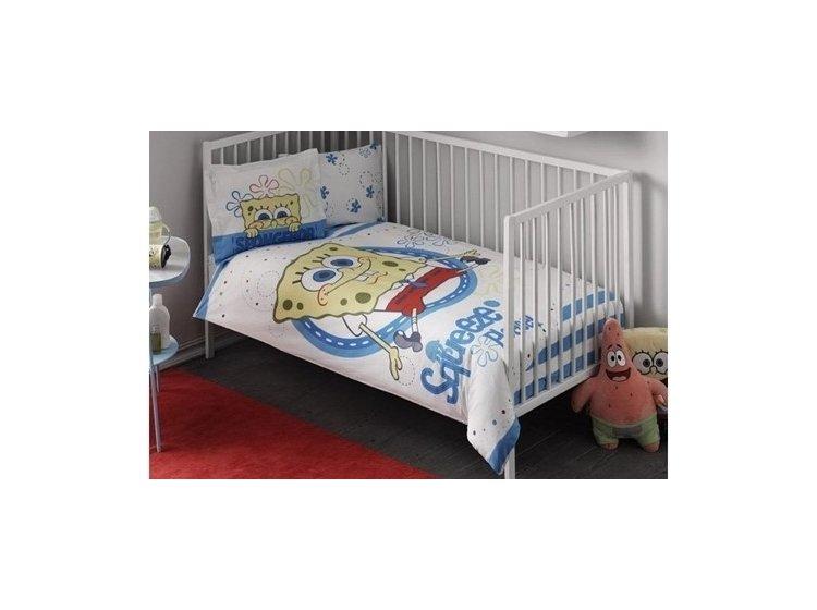 Постельное белье в детскую кроватку TAC. Disney Sponge Bob Baby