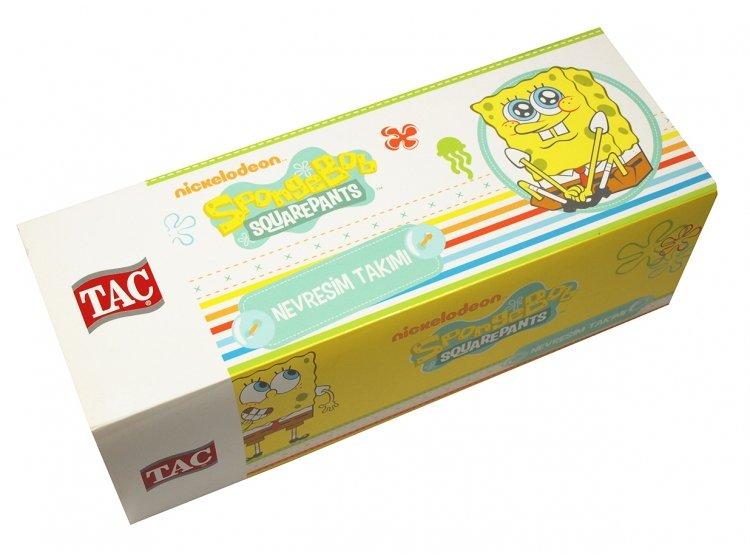 Постельное белье в детскую кроватку TAC. Sponge Bob Baby упаковка