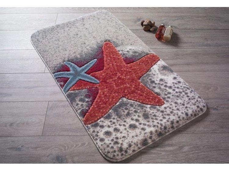 Коврик для ванной Confetti. Starfish Red