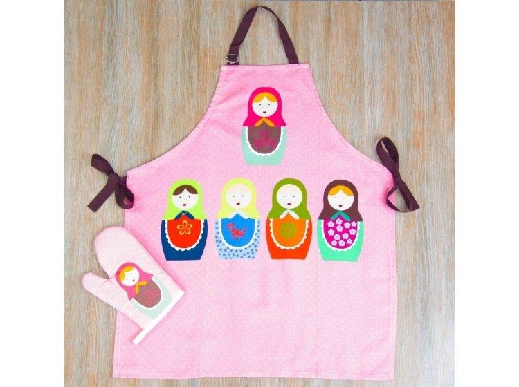 Набор для кухни Barine. Matrushka фартук+рукавичка+прихватка