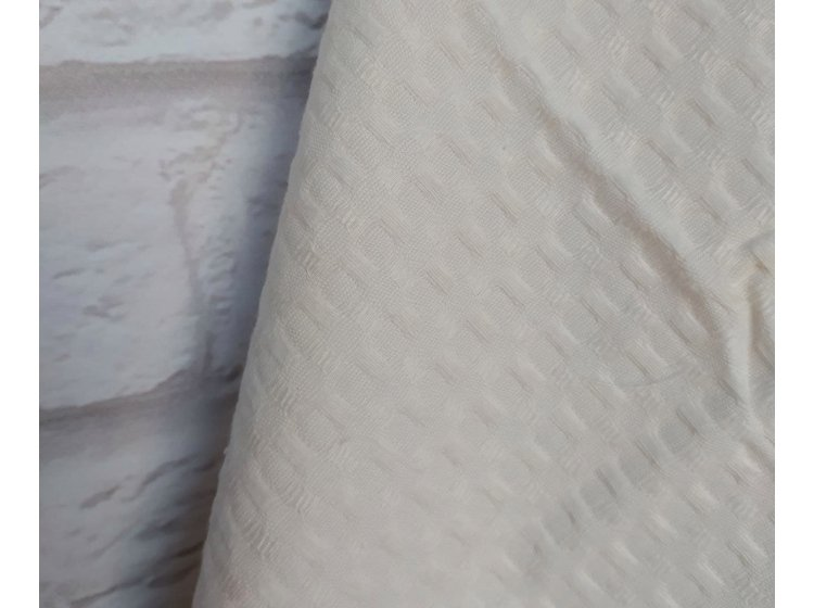 Вафельное полотенце Home Line. Молочное