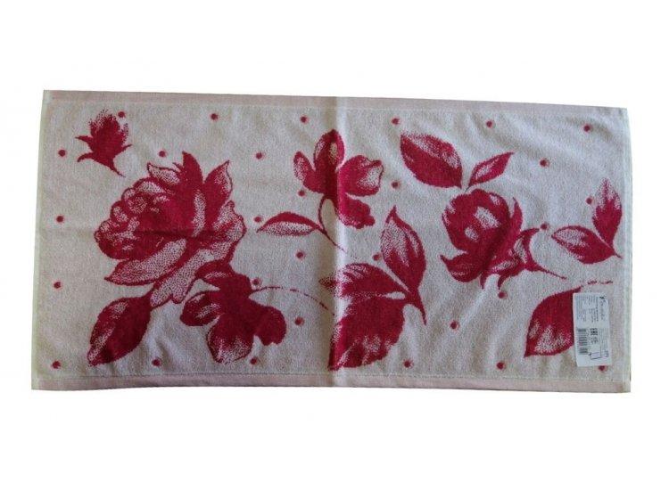Махровое полотенце Речицкий текстиль. ВАЛЬС ЦВЕТОВ красное