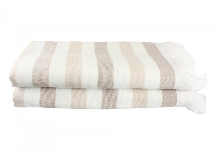 Пляжное полотенце Hobby. STRIPE Peshtemal, бежевое